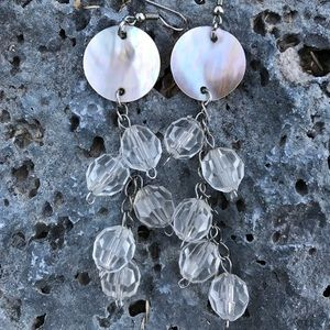 Clear/Shell Earrings